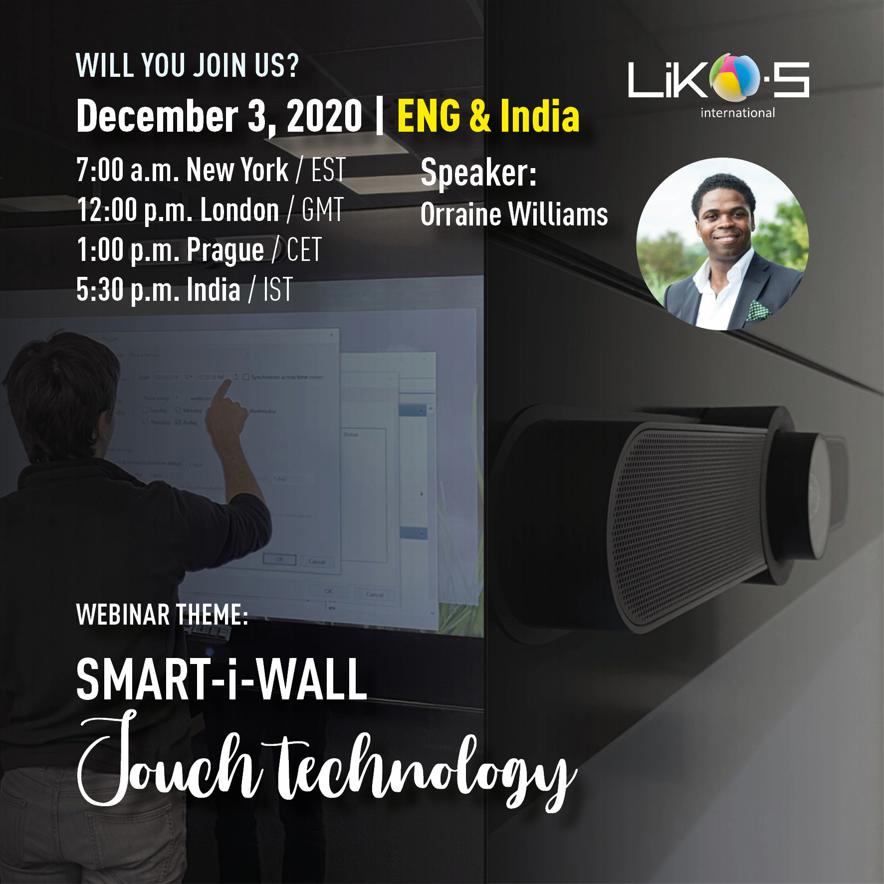SMART-i-WALL – Touch technology