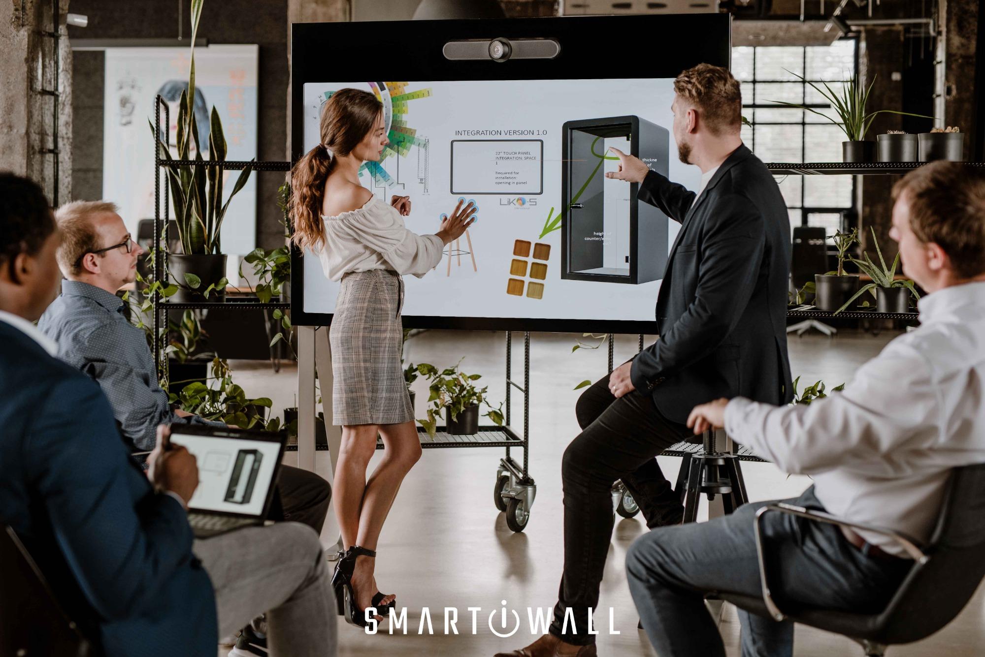 SMART-i-WALL®: Következő videókonferenciájához nem lesz szükség laptopra.